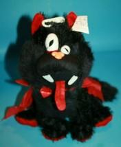 "Hug & Luv Halloween VAMPIRE CAT 10"" Eyelash Plush Black Cape Stuffed Sof... - $17.32"