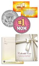 #1 MOM World's Greatest Mom Mother's Day JFK Kennedy Half Dollar U.S. Coin - $8.86