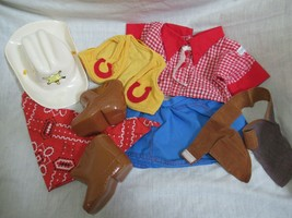 Cabbage Patch Kids vintage doll outfit Western Cowboy hat boots pants shirt + - $29.69