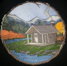 Stroll through the Walk In Woods Beauty [Cabin ] [Custom and Unique] Emb... - $18.80