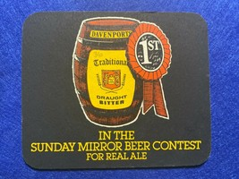 BEER MAT COASTER - TWO SIDED - DAVENPORTS DRAUGHT BITTER  (FF265) - $5.43