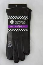 ISOTONER Signature Women's Leather Dress Gloves Sz 8.5 / 9 BROWN Smartou... - $26.35