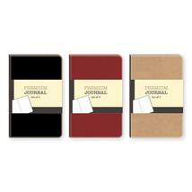 NEW Pocket Notebooks 6 Stitched Black Ruled Premium Journals - $4.89