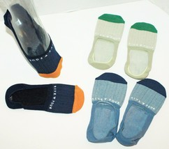 ONE SET - FIVE FOUR MEN NO SHOW FASHION 3 SOCKS GREEN + DARK + LIGHT BLUE - $9.88