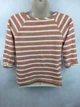 Girl's Pockie K Orange & White  3/4 Sleeve Striped Shirt Size XL image 2