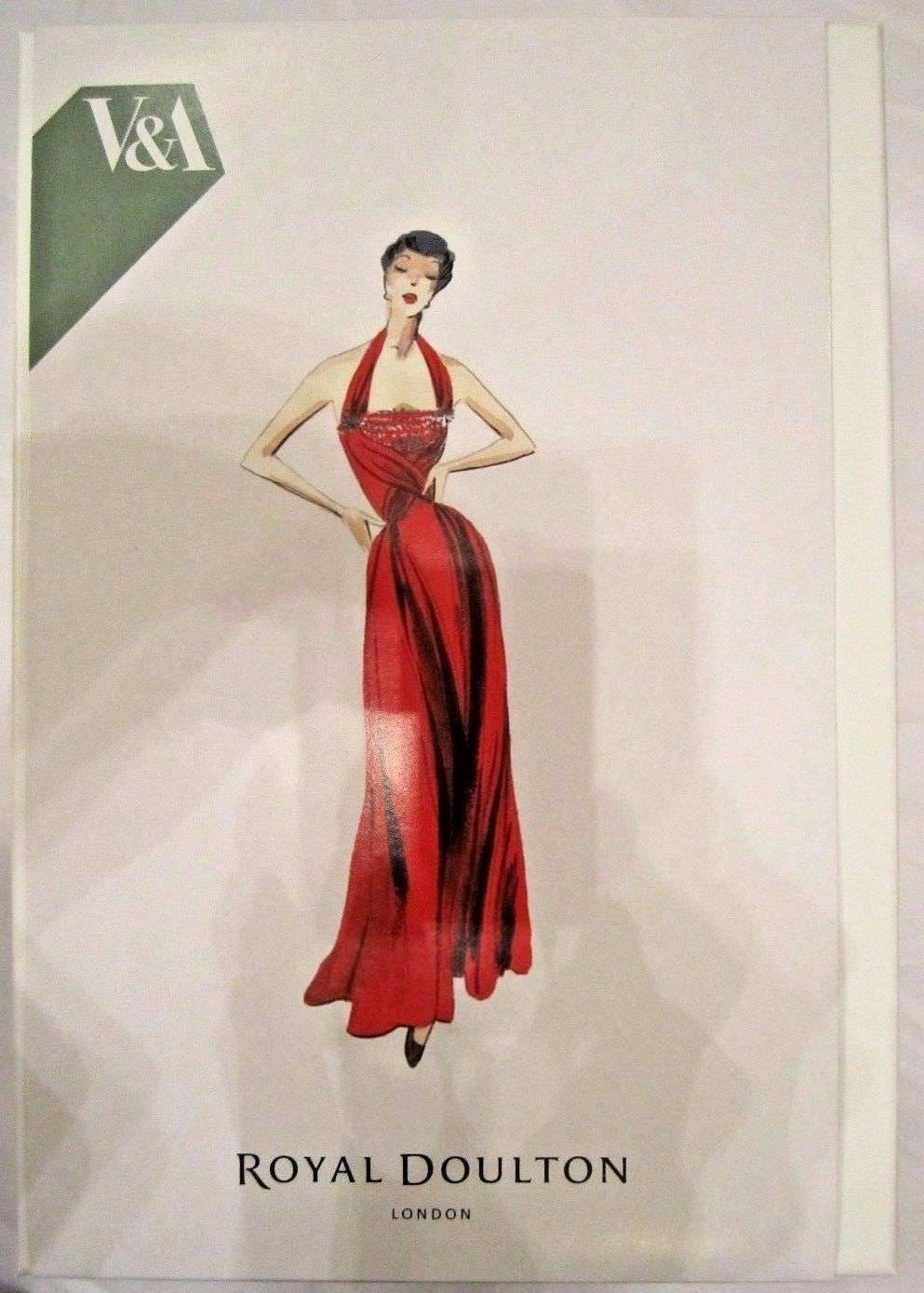 Royal Doulton Yolande Fashion Figurine 1950's Red Ball Gown V & A Museum NEW image 2