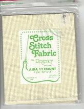 "Regency Cross Stitch Fabric, 11 Count Ivory, 12"" X 18"" Aida Cloth - $19.99"
