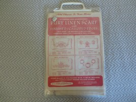 Standard Stamping Co. PURE LINEN DRESSER SCARF Stamped for Embroidery #2... - $12.00