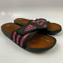 Adidas 10 US / 9 UK  Women Sandals Sport Shoes Pink Black Adissage Fade ... - $19.77