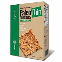 Julian Bakery Paleo Thin Crackers | Salt & Pepper | USDA Organic | Gluten-Free |