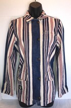 Ralph Lauren Jeans Co. Red White and Blue Striped Denim Jacket Womens Si... - $28.90