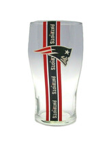 New England Patriots Striped 20 Ounce Pub Beer Glass - $22.76