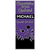 Class of 2018 Graduation Door Banner Black and Purple Backdrop - £24.38 GBP