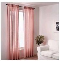"Ikea LEJONGAP Curtains, 1 pair, light pink, 2 panels 57 x 98"", NEW - $43.95"