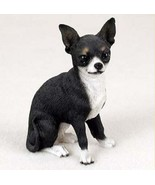 CHIHUAHUA  DOG Figurine Statue Hand Painted Resin Gift Pet Lovers Black ... - $17.25