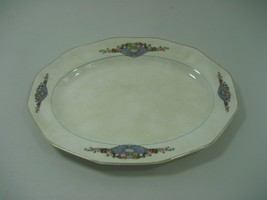 Vintage Oval Decorative Collector Plate Floral Pattern Gold Trim F.C. CO... - $12.16