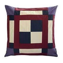 Black Temptation [Blend Color] Handmade Canvas Decorative Pillow Unique Grid Cus - $38.50