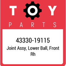 43330-19115 Toyota Ball Joint Lower, New Genuine OEM Part - $57.74