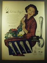 1950 Lunt Sterling Silver Advertisement - Modern Victorian, Memory Lane - $14.99