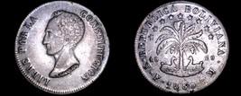 1850-PTS FM Bolivian 8 Soles World Silver Coin - Bolivia - $99.99