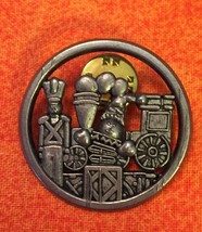 Hallmark Christmas Train Toy Soldier Jack In The Box Brooch Pinback - $4.80
