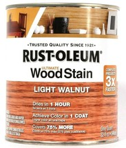 1 Can Rust-Oleum 32 Oz Ultimate Wood Stain 344724 Light Walnut Dries In ... - $21.99