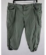 Gloria Vanderbilt Womens Denim Green Stretch Shorts Size 18W Measures 38... - $15.83