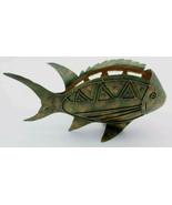 Fish Candle Holder Lantern Metal Art Sculpture Tea Light Sea Ocean Marin... - $75.00