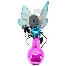 Regal Art & Gift Metal & Glass Butterfly Hanging Solar Light Garden Decor image 3