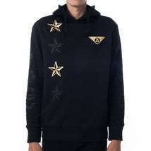 Asphalt Yacht Club Mens Black Commander Fleece Hoodie Hooded Sweater XL NWT
