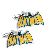 BATMAN CUFFLINKS Vintage Cape Design Comic Superhero w GIFT BAG Wedding ... - $9.95
