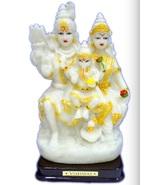 Hindu Lord SHIVA with wife PARVATI and son GANESHA / Shiv Parivar Statue... - $24.99