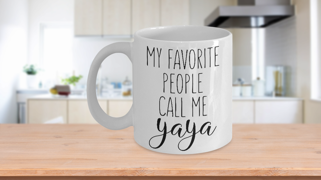 Primary image for Yaya Mug My Favorite People Call Me Ya Ya Grandmother Coffee Cup Ceramic