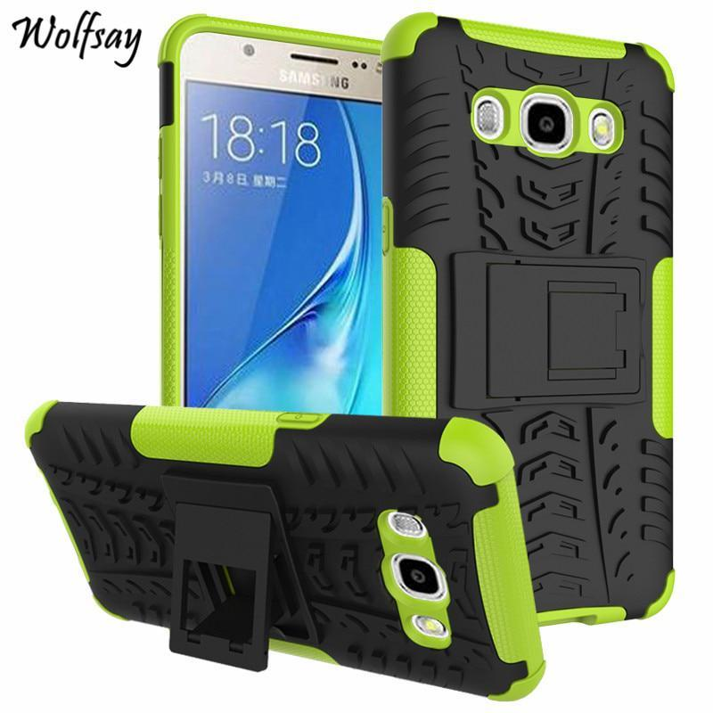 Wolfsay For Cases Samsung Galaxy J5 2016 Case Silicone Plastic Armor Cover For S