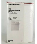 Ikea Kungsblomma King Duvet Cover 2 Pillowcases Bed Set White Red Trim NEW - $44.55