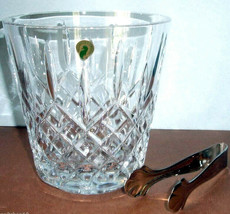 Waterford Lismore Ice Bucket With Tongs Made In Ireland 483180060 New Boxed - $364.90