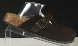 American Eagle Outfitters Womens Clogs Mules Suede Brown Buckle US 11 Italy - $23.15