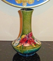 MOORCROFT England Art Pottery Orchid Vase c1928-1949 with Impressed Stam... - $249.00