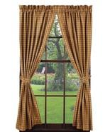 Olivia's Heartland country primitive Cambridge Mustard Panel curtains 72x63 - $59.95