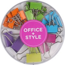 Office+Style Colored Binder Clips, Assorted Size, 26 Pieces - $11.30