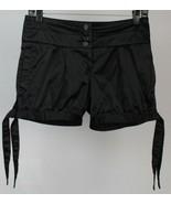 "Bobby J Womens Satin-Type Fabric Black Shorts Size 1, Measures 29 x 4-1/2"" - $11.87"