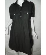 Versace Jeans Couture Dress Black Shirt Dress LBD Size Medium - $93.25