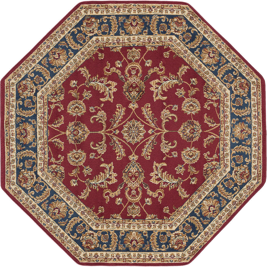 Octagon Traditional Oriental Persian Red Blue Area Rug **FREE SHIPPING**
