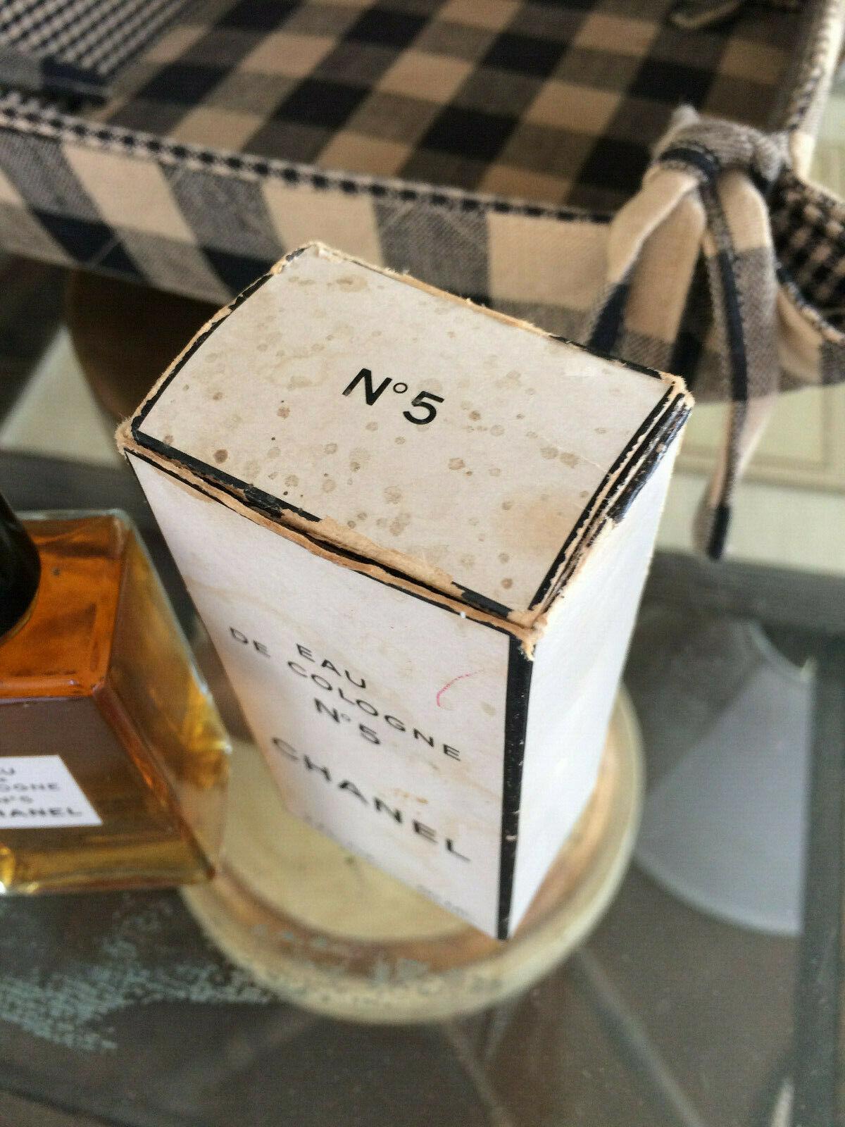 Vintage mid-century!! CHANEL No 5 Perfume 2 oz - OLD FORMULA FRANCE New NIP image 4