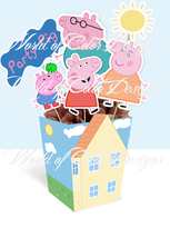 "PRINTABLE CENTERPIECE FOR PARTY ""PEPPA PIG"" ( Limited Time Discount 50%) - €8,02 EUR"