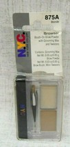 Nyc Browser Brush On Brow Powder With Grooming Wax & Tweezers ~875A Blonde~ New - $10.33