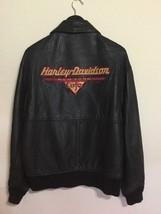 Harley Davidson New York Cafe Jacket  Black Genuine Leather Small Retro ... - $100.00
