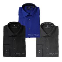NWT Calvin Klein Slim Fit Non Iron Stretch Poplin Dress Formal Shirt Long Sleeve - $49.99