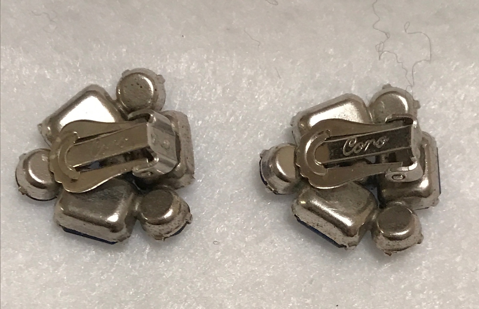 Coro Blue-Stone Earrings