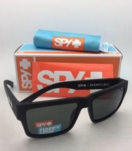 New SPY OPTIC Sunglasses MONTANA Soft Matte Black Frames Happy Grey-Green Lenses